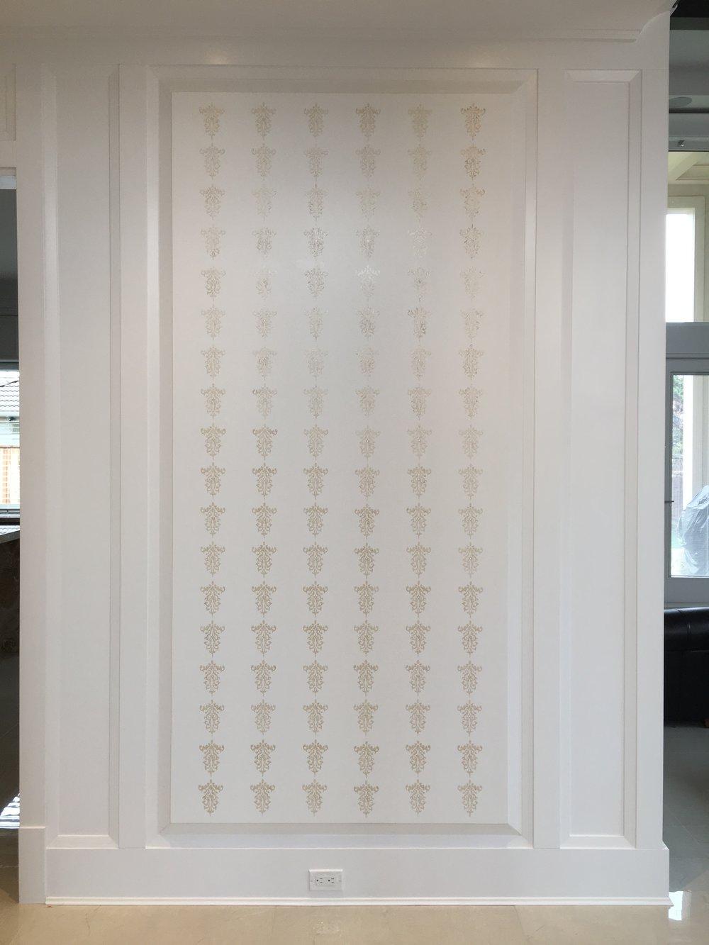 Stencil Design with Swarovski Crystals