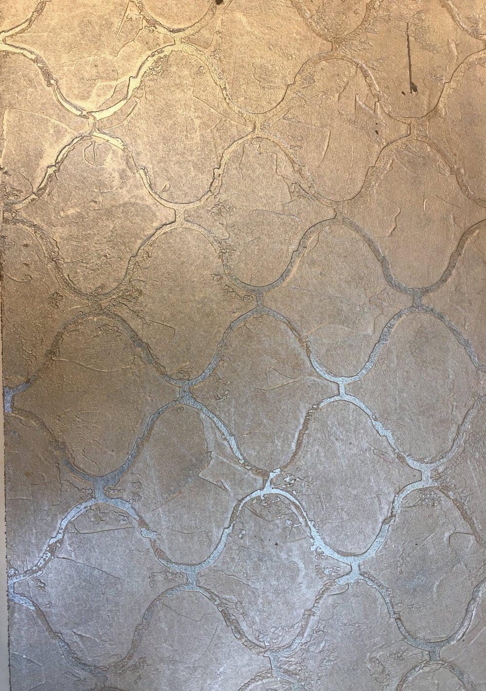 Custom Stenciled Venetian Plaster