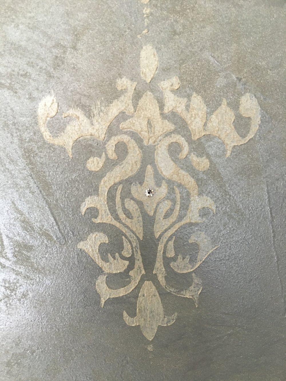 Shimmer Plaster with Shimmer Stencil Design