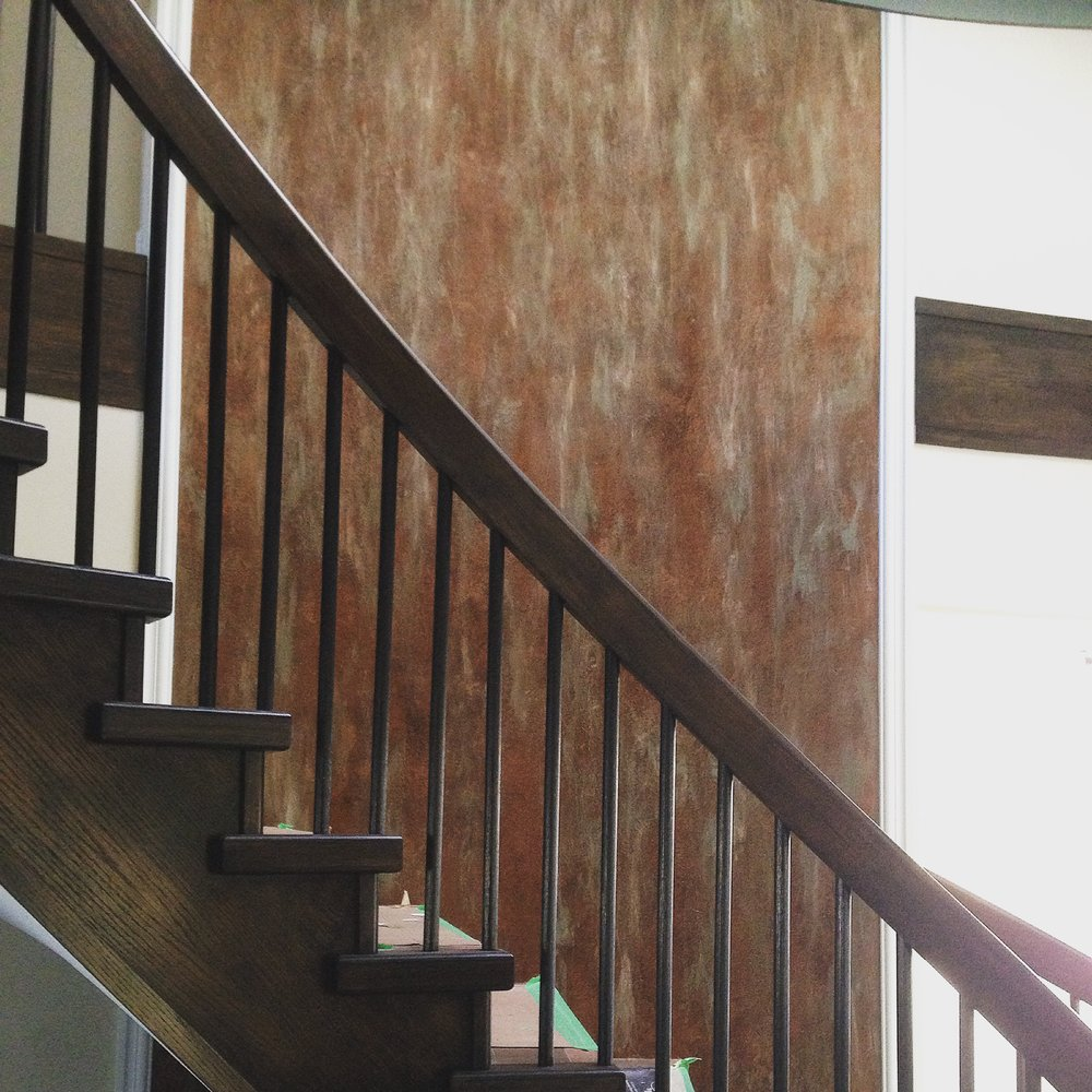 Venetian Plaster with Multi-metallics