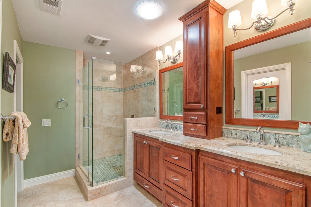 Bathroom Remodeling - Escape! Allow us to transform your bathroom into a functional space of beauty and relaxation.