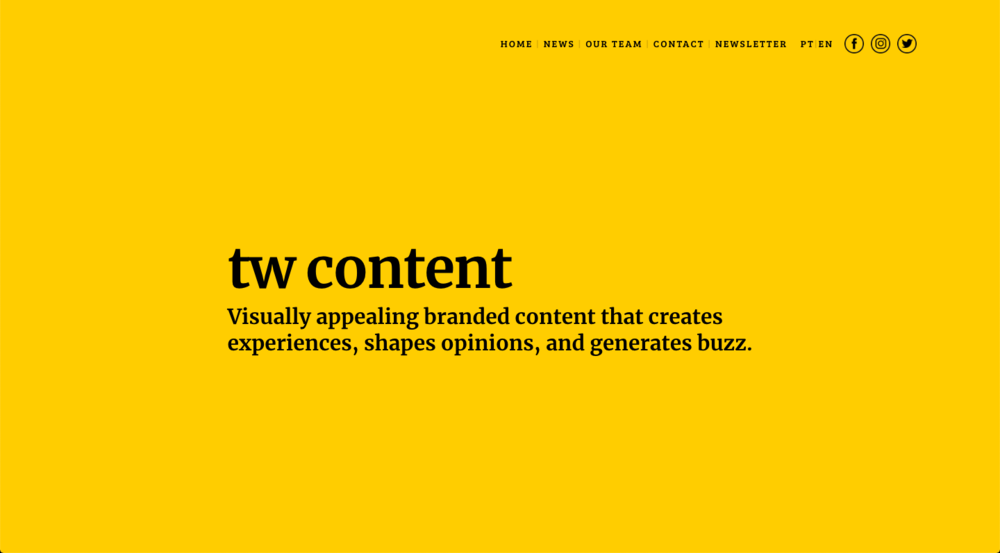 TW Content Website Copywriting