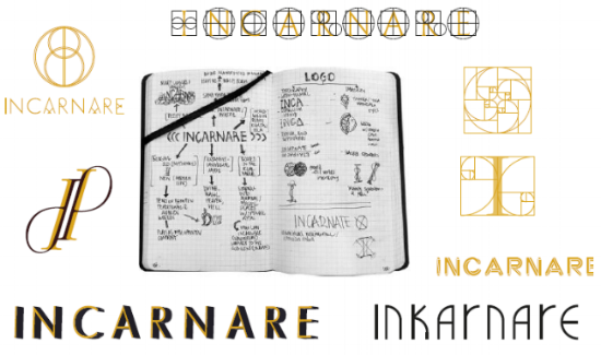 Inkarnare The God Gene Logo Origins Notebook