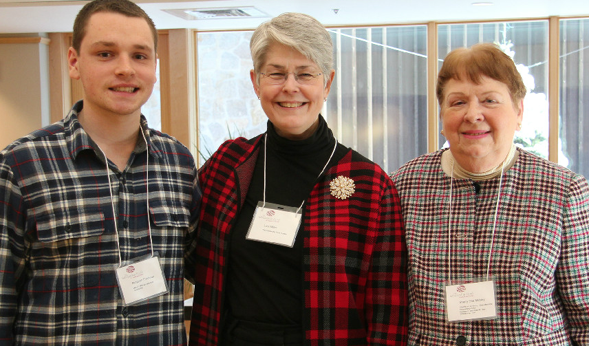 Ben Friedman CCHS'16, Lucy Miller Chair of The Scholarship Fund and Sherry Dee Mobley at Annual Brunch