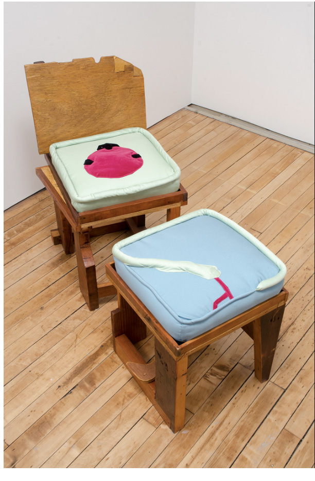 Kilroy Embracing Dying Star Chair and Snake Ottoman.  For more info contact Mitchell-Innes and Nash, miandn.com .