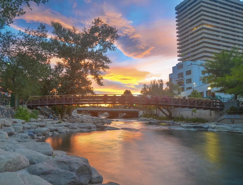 The Truckee River flows through downtown Reno. ( VisitRenoTahoe.com )