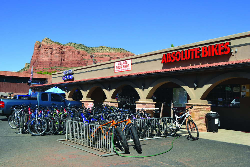 Another kind of outreach: the Sedona store operates a large rental fleet for the many tourists there. Will some of them buy a bike when they get home?