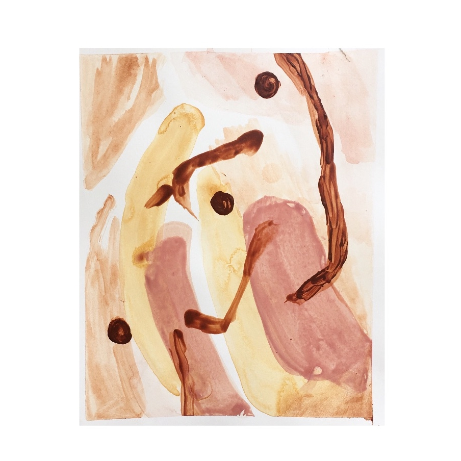 "Reaching |  acrylic on bristol paper | 9.5"" x 12"" | 2018"