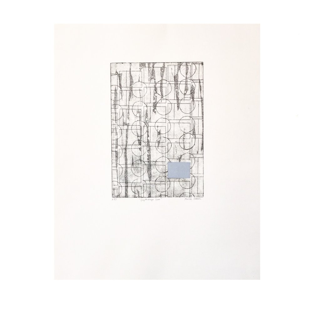 "Cogito Ergo Sum  | intaglio | ink and chin collee | 11"" x 14"" | edition of 20 | 2017"