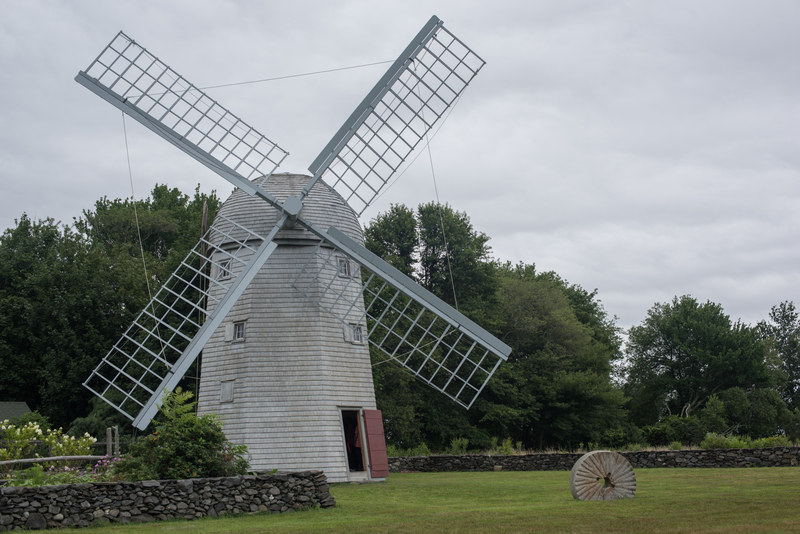 Above: Jamestown Windmill, built in 1787 now maintained by the Jamestown Historical Society