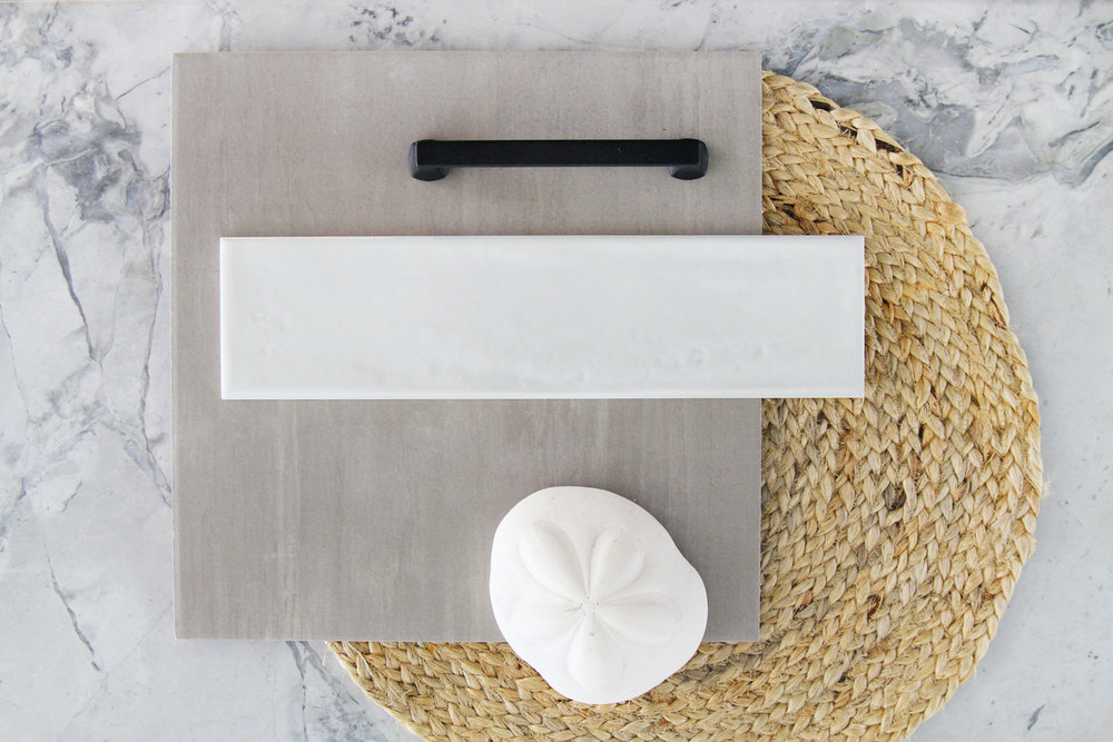 Coordinated materials for a coastal aesthetics look… -