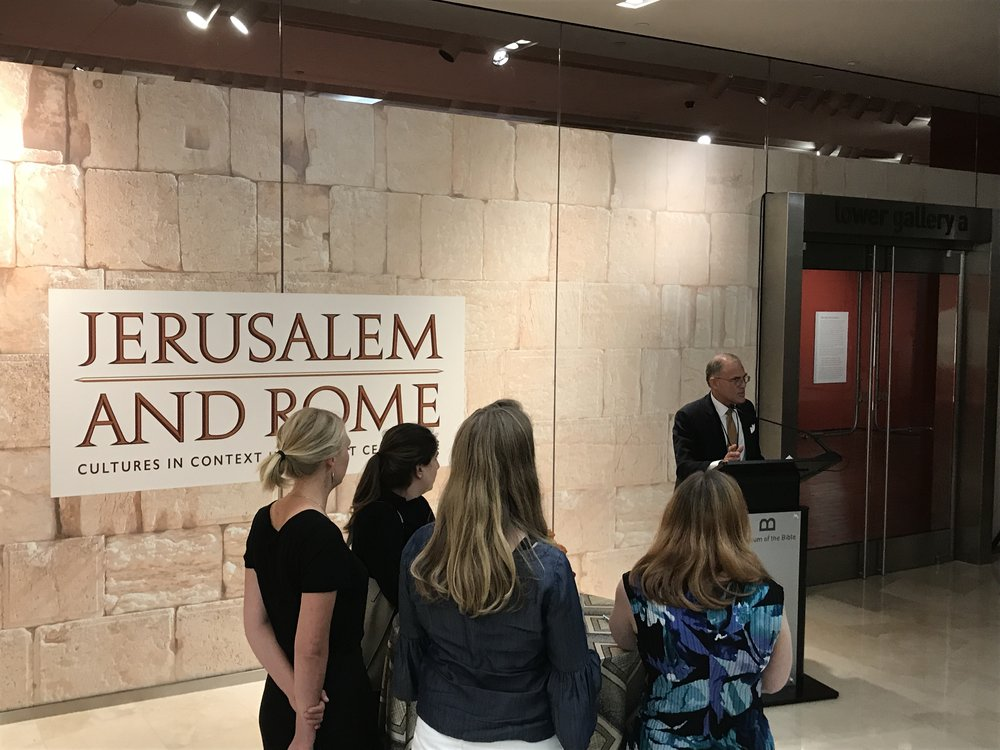 Opening of a new exciting exhibit at the Museum of the Bible- Jerusalem and Rome. With the Hebrew University.