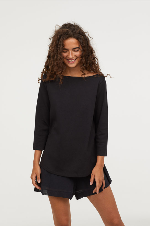 """H&M-conscious collection - ($) H&M's conscious collection is a """"range of organic and sustainable clothing"""" that includes basics from budget-friendly knit sweaters to denim jeans."""