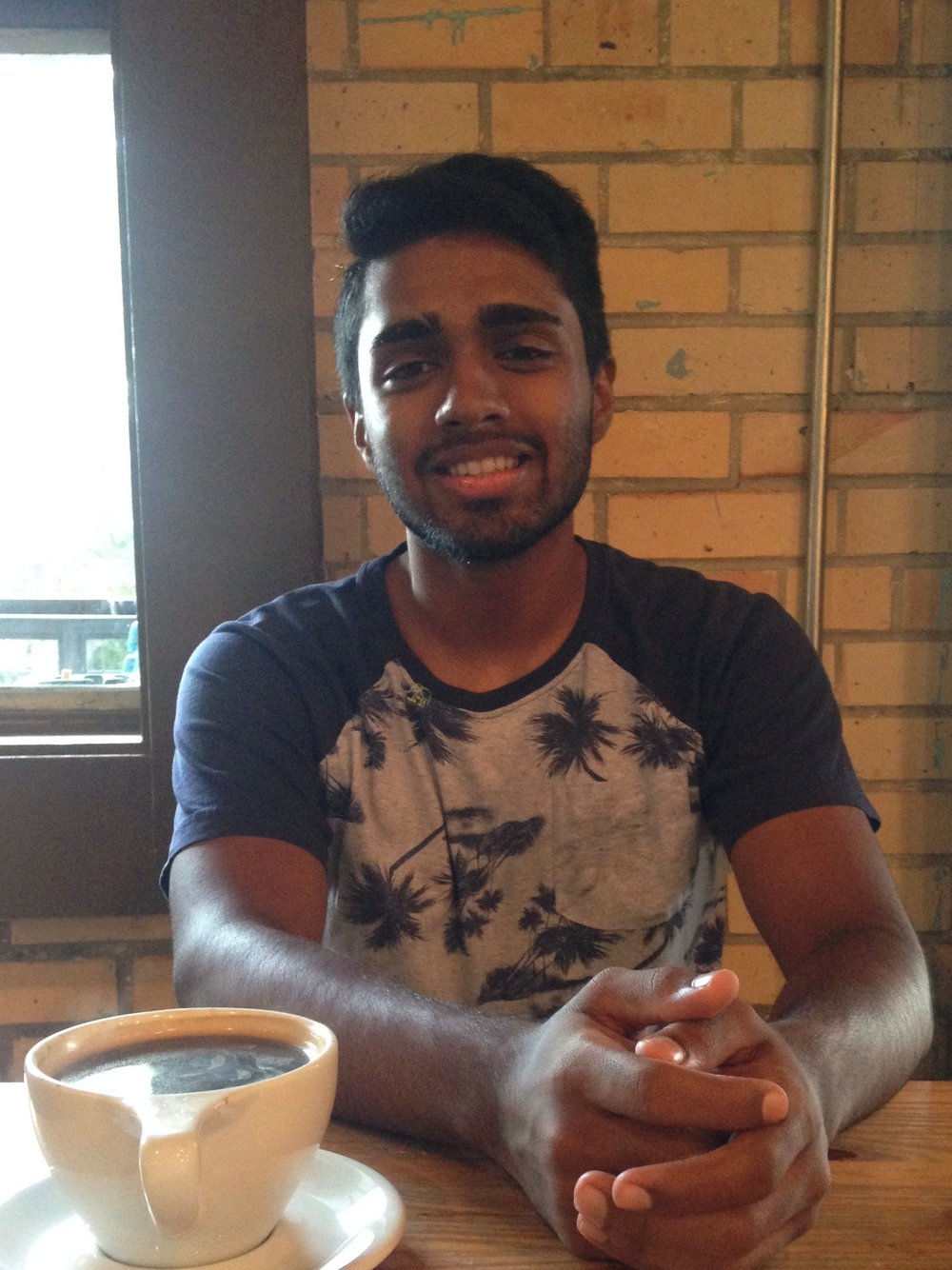 """Claremont - Vin Srikanth - Hey y'all, I'm Vin! I'm from San Antonio, Texas (hence the """"y'all""""), and in stereotypical CMC fashion I'm an Economics and Government major. When I'm not busy pretending to be studying so I can feel less bad about my grades, you can catch me trying to get swole in Roberts (emphasis on """"trying"""") or watching whatever NBA or NFL game or tennis match is on. I'm also super passionate about politics and world affairs, so if you want to waste far too much of your time listening to me talk then just ask me about those. Good coffee, good tea, and good food are the ways to my heart, so if that's your thing then hit me up and we'll grab some. I'm hyped to be the RA of Chall! Feel free to swing by any time; I'm super excited to meet more people!"""