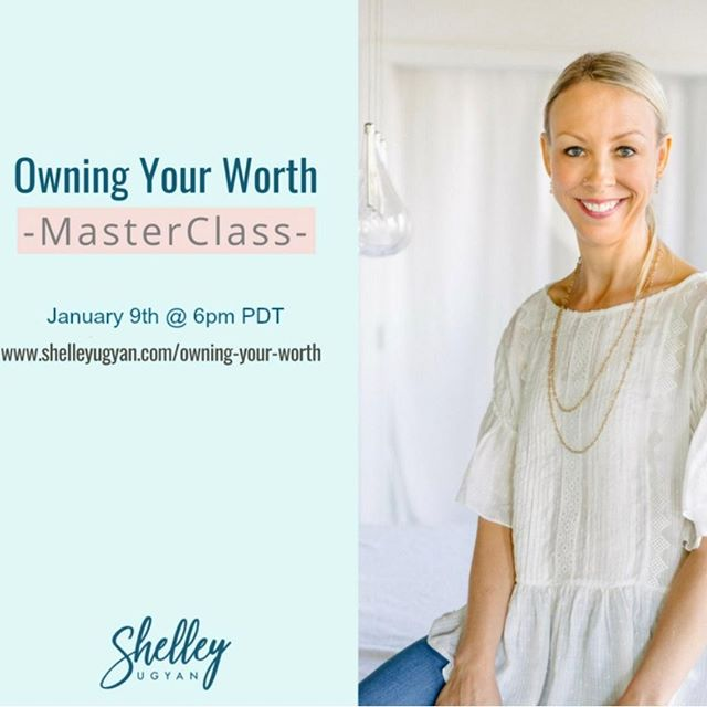Join me this Wednesday January 9th, 2019 6PM PDT for Part 1 of my Masterclass and start Owning Your Worth . . . . . #shelleyugyan #cognitivecoaching #masterclass #twoparts #firstpart #coaching #canadiancoach