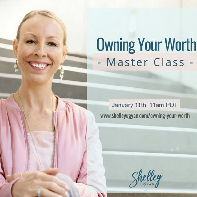 Part 2 of my Masterclass will take place this Friday January 11th, 2019 at 11am PDT. Let's end your week on a right note and have you start Owning Your Worth.  Link in bio! . . . . . #masterclass #shelleyugyan #part2 #2partmasterclass #owningyourworth #coaching #cognitivecoaching #canadiancoach