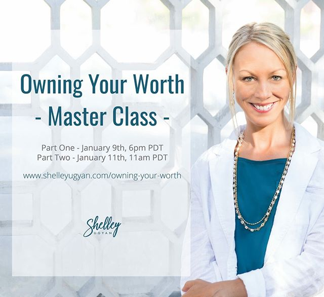 "Did you hear 👂🏻? The first ☝🏼session of Owning Your Worth Masterclass goes LIVE tomorrow! ⭐️It's time to overcome your pricing, visibility and attraction struggles! This masterclass is all about getting rid of self-judgement and getting you off the ""Playing Small"" merry-go-round ⭐️ LADIES...YOU CAN HAVE IT ALL 💯  Tomorrow, I will be sharing part-one of my tried and true techniques for clearing the negative and making room for some serious momentum from pricing that feels right to getting yourself visible, and attracting those DREAMY clients that make you LOVE 💕 showing up each and every day.  Link in bio ☝🏼 . . . . . #masterclass #shelleyugyan #coaching #womenempoweringwomen #fulfillment #momentum #techniques #owningyourworth #havingitall #"
