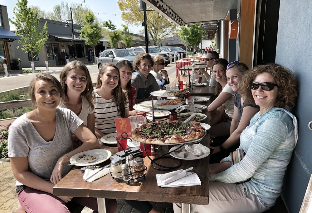 Team Lunch - Nick's farewell lunch at Zeeks