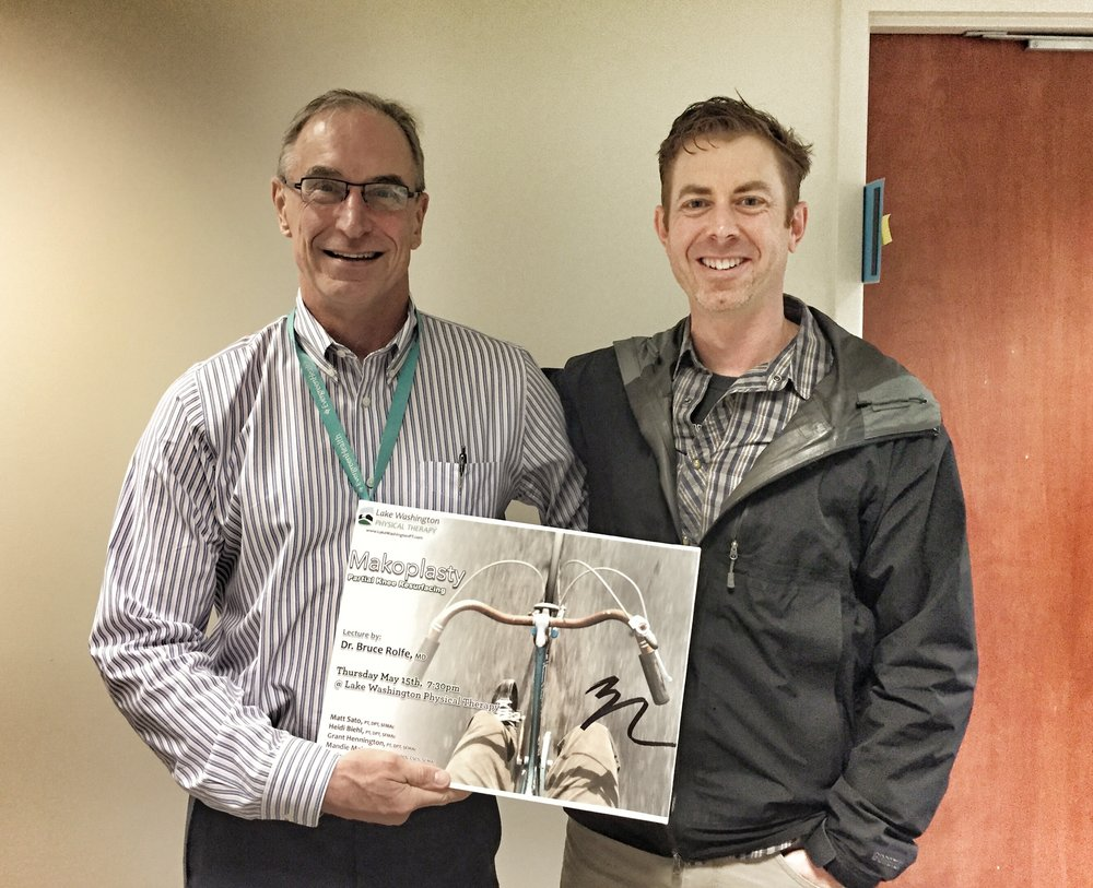 Dr. Rolfe Update - Ben and Dr. Rolfe met to talk about the update to his last lecture about Makoplasty. He was generous enough to allow us to have the notes
