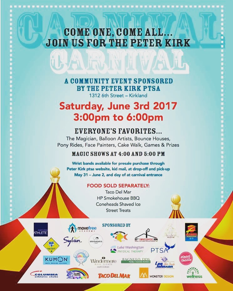 Peter Kirk Carnival 2017 - LWPT was once again a supporter of Peter Kirk Elementary and their PTSA's annual fundraiser.June 2017