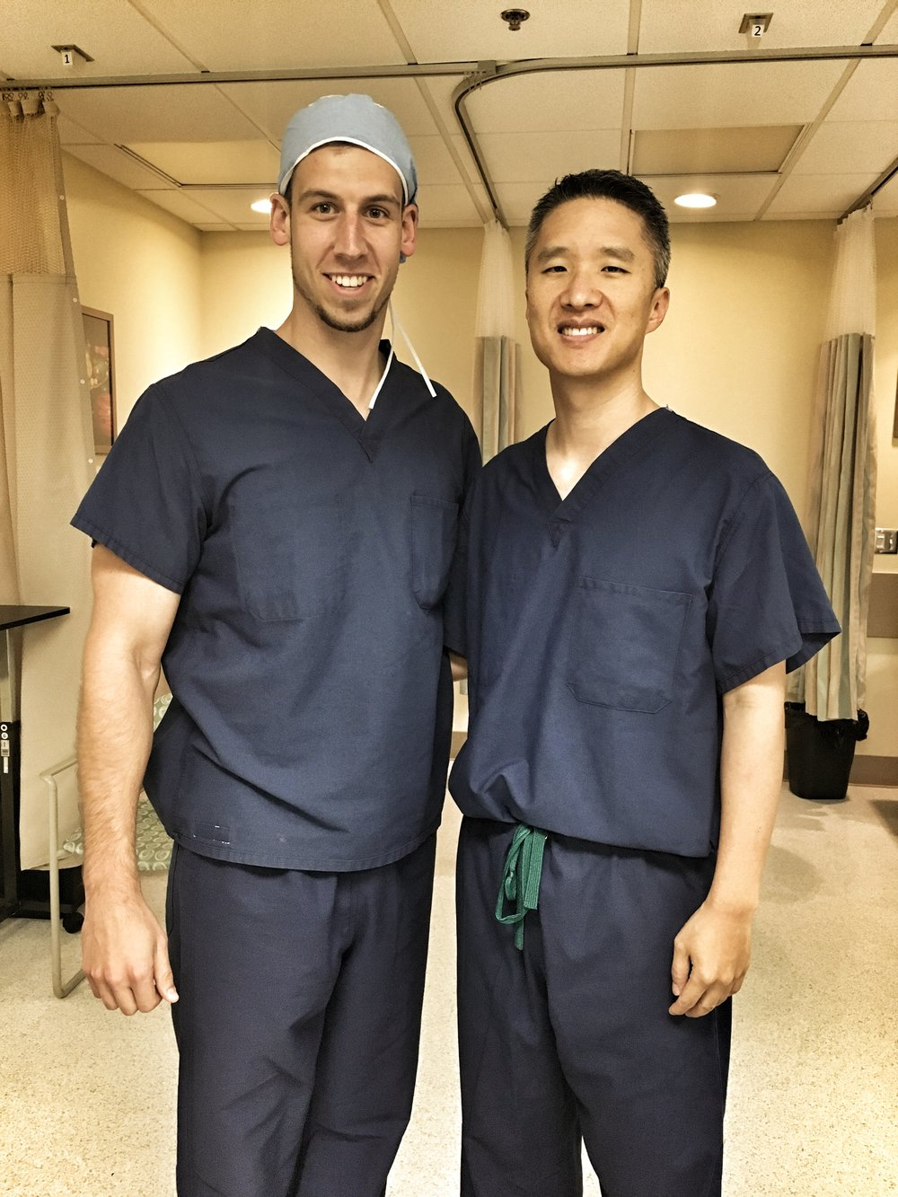 Victor & Dr. Koo - Victor scrubbed in for a day with Dr. Koo in the OR.June 2017