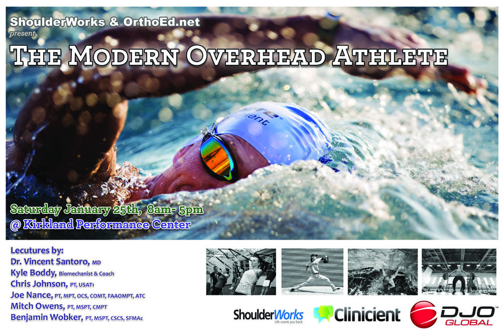 OrthoEd SymposiumThe Overhead Athlete - This event was hosted by Jessica Pare', Ben Wobker, Mitch Owens, Maureen Madden, and Joe Nance. With Special guests Kyle Boddy from DriveLine Baseball, Dr. Vincent Santoro, and Christopher Johnson. You can visit OrthoEd's FB Page (click here)