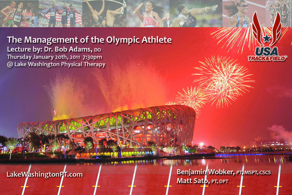 Dr. Bob AdamsOlympic Athlete  - More on Dr. Adams (Click here)