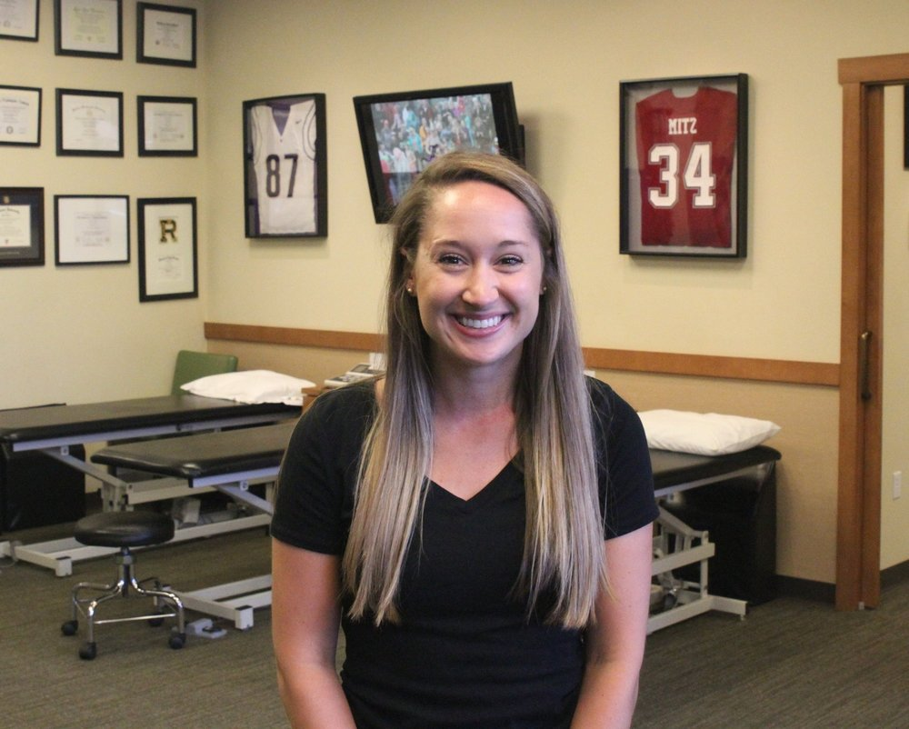 Natalie KinneyPTA, Office Manager - Natalie grew up in Kirkland, WA where she attended Juanita High School and enjoyed participating in soccer, gymnastics and track. She then went to the University of Washington where she earned a B.A. in Geography with an emphasis in Globalization, Health and Development, all while also completing the necessary prerequisites in order to pursue physical therapy. It was her anatomy and physiology course that initially sparked her interest in the human body....Continue »