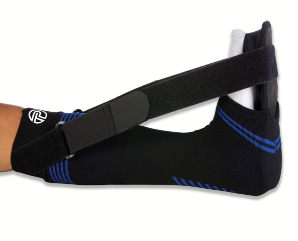 Pro-Tec Night Splint - General ApplicationTo alleviate pain in the arch and heel area.Medical ApplicationTo relieve symptoms of plantar fasciitis and heel spurs. In addition, may relieve symptoms of peroneal and tibial nerve entrapment.Design FeaturesCombines the benefits of a compression sock with the stability of a traditional night splintBreathable compression provides stimulating message to calf and achilles tendonFirm insole offers stability to hold foot in place throughout stretching periodToe wedge supports toes in comfortable dorsiflexion