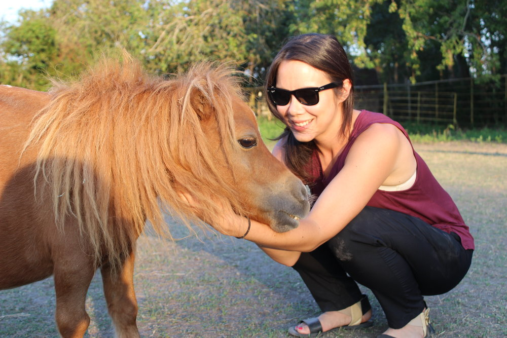 Regina with Munchie of Habitat for Horses