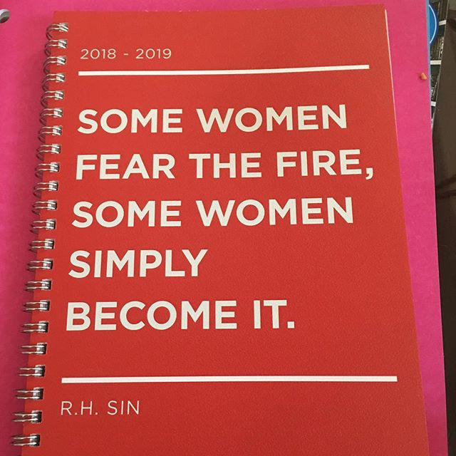 """The best part of bringing this home with all the school supplies I bought? # My older son looked at and said """"That's you."""" I said """"You think so?"""" His reply may be the highlight of my life. # """"Mom, you're terrifying."""" # Of course I clarified that immediately. """"In a good way or a bad way?"""" He said, """"You're  a terrifying force of nature. I don't think nature is good or bad. It just is."""" # We all then proceeded to reenact Snow Miser, Heat Miser and their Mother, Mother Nature. (If you don't know what I'm talking about, google it because you're missing out on one of the very best bits of television. Ever.). # So my question today is, who or what are you becoming? Declare it in the comments.:-). # #becomethefire #manifesting #mindset #spirituality #alwayswithawickedattitude"""