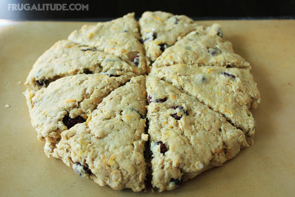 Cranberry Oat Scones | Shaped Dough