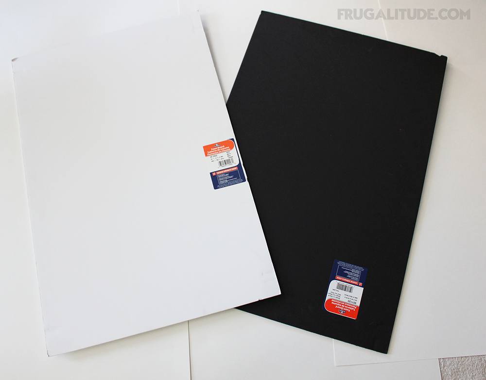 White & black poster boards