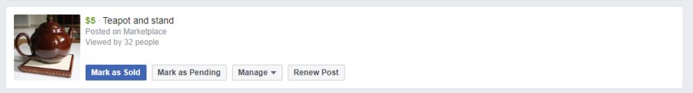 Facebook Marketplace Listing - Renew Post
