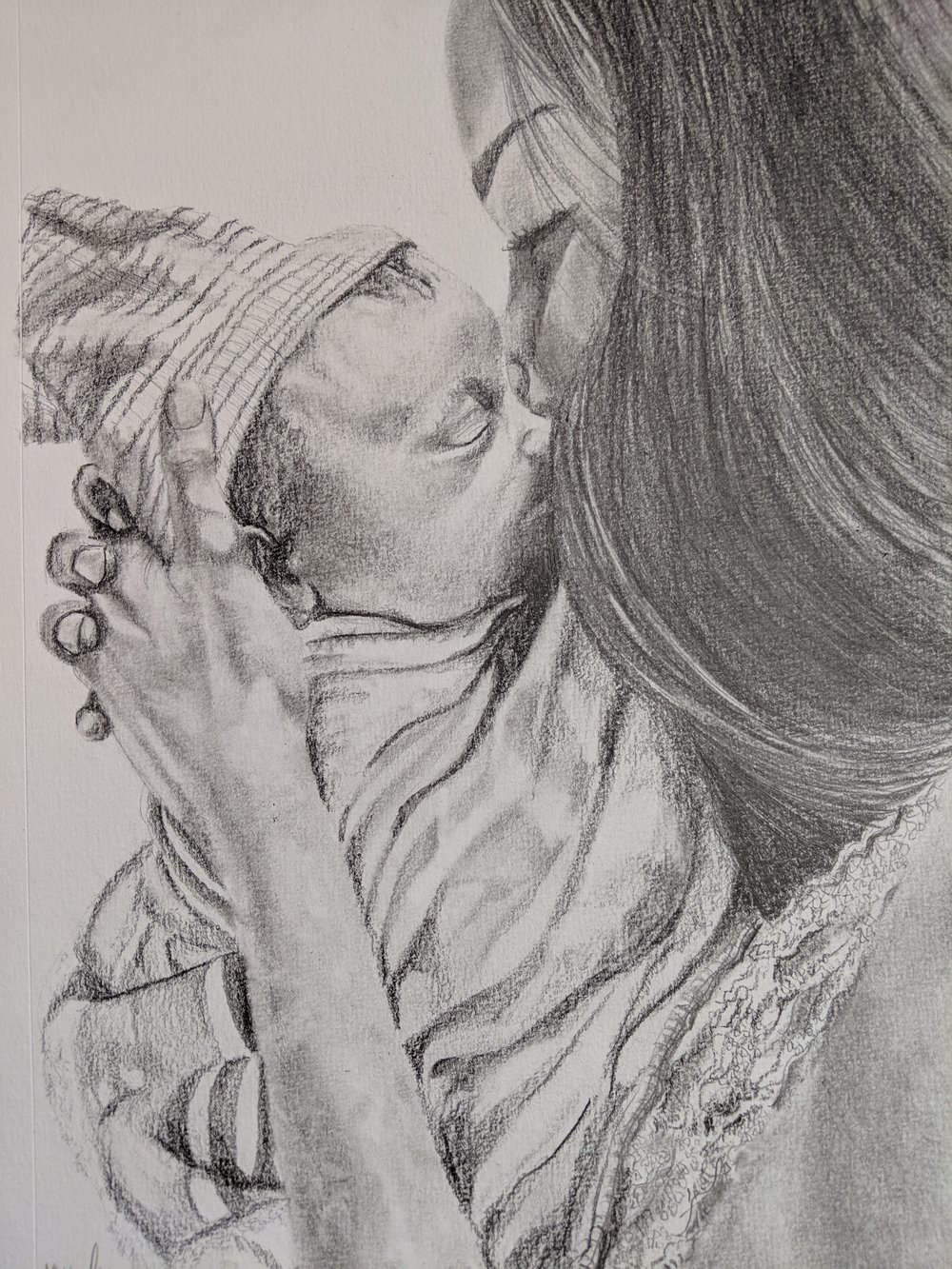 """Original Drawing  """"When I first met you"""""""