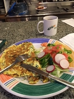 Omelettes always work for me!