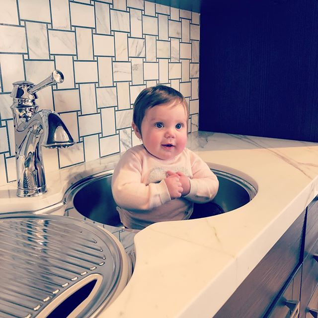 It must be #friyay ! Look what we found in our kitchen sink 👶🏻 #Friday #friyayvibes