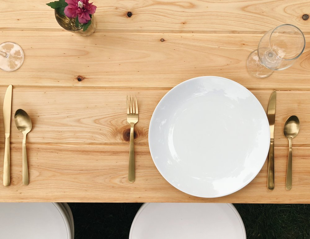 rustic dining table styled