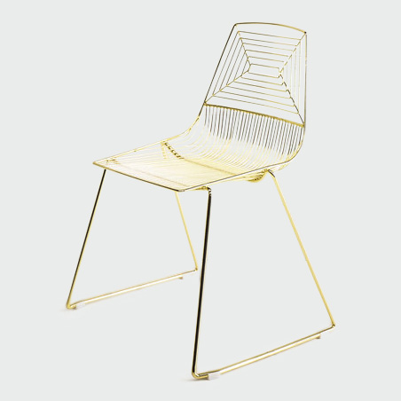 Click to View: Gold Wire Chair