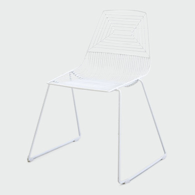 Click to View: White Wire Chair