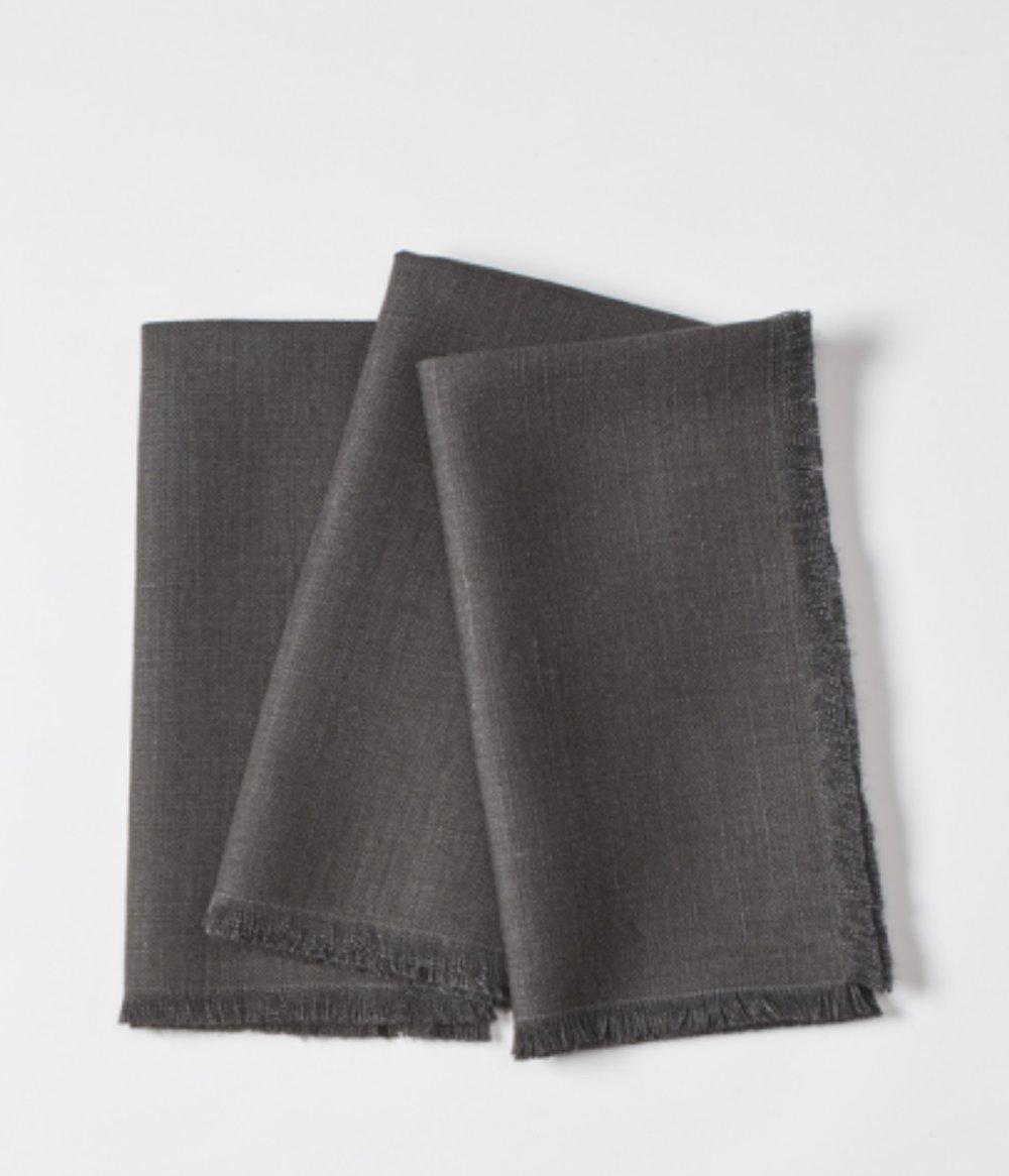 Click to View: Black Linen Napkin