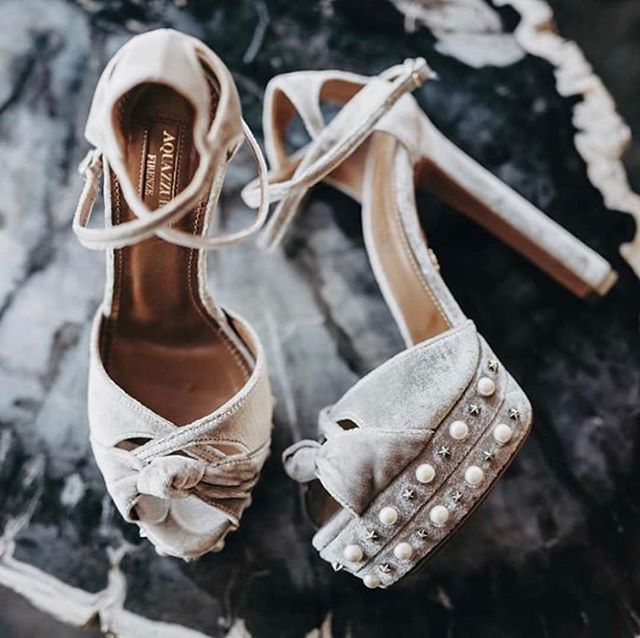 we're slightly obsessed with shoes (could you tell?) and think they're a great way to add a fun or sassy touch to a bridal outfit (even if they're covered by your dress and you're the only one who knows what they look like 😂) image: @cassandraladru