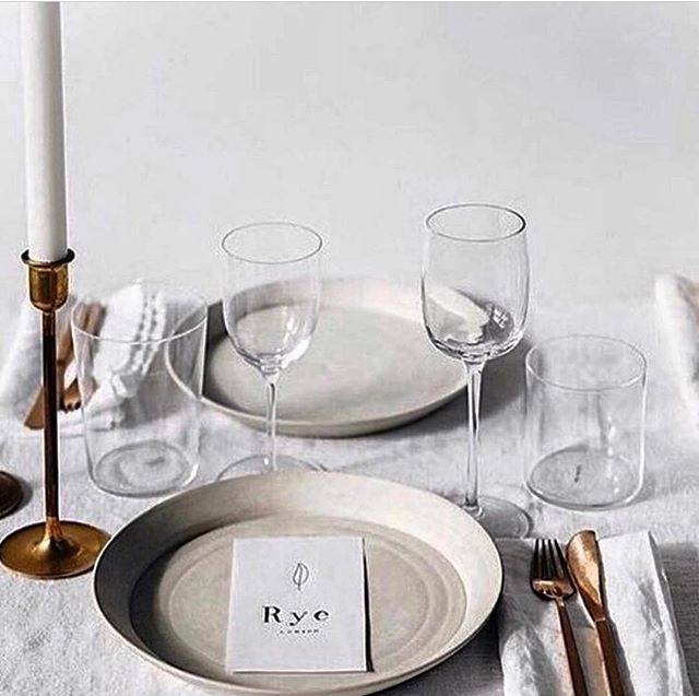 we can't wait to add tabletop items to our collection and to share the final decisions on the designs we've chosen. think simple, streamlined and classic like this tablescape image: @wildatheartbridal