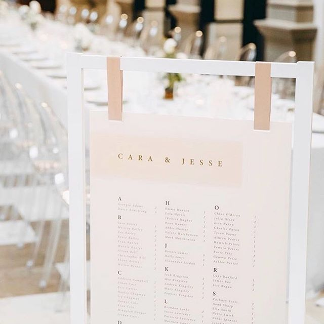 we have been crushing hard on some wedding signage lately (weird? maybe a little...), but it's one of the first things your guests will see and interact with when they enter your reception, so be sure it makes a statement and matches the rest of your décor! image: @paperfusionboutique