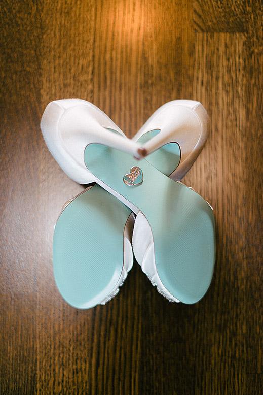 blue wedding shoes artistic wedding photo editing