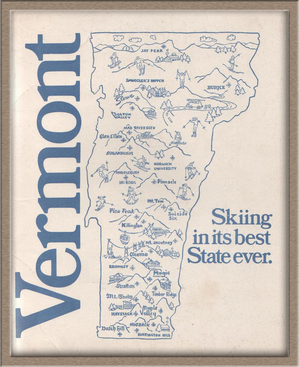 Vermont Ski Areas Association poster from 1973
