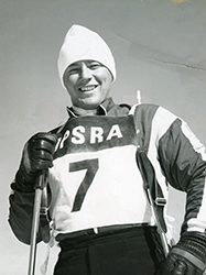 Marvin Moriarty - Marvin Moriarty was the youngest man ever named to the US Olympic team. At 17, he trained for the Olympic slalom. During his competitive career, he retired Mt. Tremblant's Ryan Cup and competed and won countless races nationally and internationally. He stayed with the ski industry acting as a rep for Beconta and Nava boots among others. He helped to grow the Moriarty hat business by adding a line of ski pants designed for racers and by placing the iconic Moriarty shamrock logo on the outside.