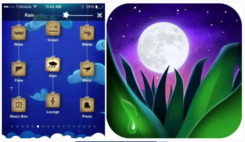 Relax Melodies app helps users get to sleep, relax, and focus.