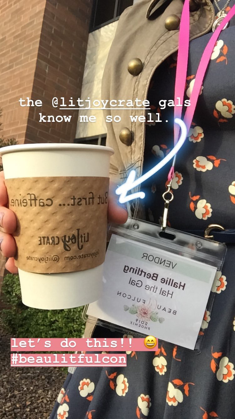another dream of my heart come true was meeting the ladies of  litjoy crate . i'm a huge fan of their bookbox and all the things they love. and they happened to sponsor the coffee truck that day, and well, you know how i feel about coffee.