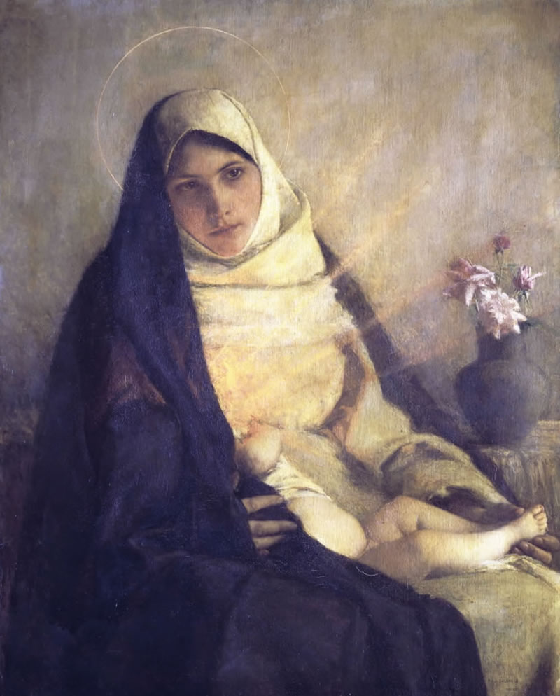 Madonna Of The Rose